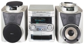 Philips FWC85 - Mini system - radio / 3xCD / dual cassette - metallic silver