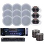 PYLE Audio KTHSP128DV - 6 Room Home In-Ceiling Speakers W/DVD/MP3 Amp System
