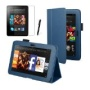 Blue Executive Multi Function Standby Case for the New Kindle Fire HD 7&quot; Tablet 16GB or 32GB (Oct. 25 2012 Release) with Built-in Magnet for Sleep / W