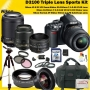 Nikon D3100 30 Piece Pro kit with 5 Years Extended warranty Plan , Nikon AF-S DX Nikkor 18-55mm F/ 3.5~5.6 VR Vibration Reduction Lens , NEW Sigma AF