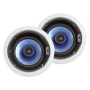 Sound Around Pyle Home PIC6E 250 Watt 6.5-Inch Two-Way In-Ceiling Speaker System with Adjustable Treble Control (Pair)