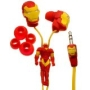 iHip MVF10110IM Marvel Iron Man Classic Sculpted Ear Buds (Red/Yellow)
