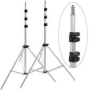 Adorama &quot;Set-of-2&quot; Pro 10&#039; Air Cushioned Light Stand -5/8&quot; top stud with 1/4-20&quot; screw thread