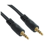 Audio Cable - 3.5mm Stereo Jack Male to 3.5mm Stereo Jack Male, Premium, Gold, 1m - Genuine AVSeller Product