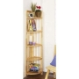 WOOD - 5 Tier Solid Wood Storage Shelves - Natural