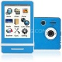 "Ematic E4 Series - 3"" Touch Screen MP3 Video Players 8GB w/ Digital Camera (Blue)"