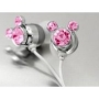 Pink Crystal Mickey Cartoon Cute Lovely Fashion Earphone headphone For Apple iPod MP3 player