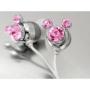 Pink Crystal Mickey Cartoon Cute Lovely Fashion Earphone headphone For Apple iPod MP3 player