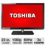 "Refurbished Toshiba 23"" Class LED TV - 1080p, 60Hz, 3x HDMI, USB, Energy Star (ished)"