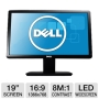 Dell IN1930 19 Class Widescreen LED Backlit Monitor - 1366 x 768, 16:9, 8000000:1 Dynamic, 1000:1 Native, 60Hz, 5ms, VGA, Energy Star