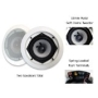 "Acoustic Audio iC5 300 Watt Pair 5.25"" In-Wall/Ceiling Home Speakers"