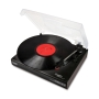 slim record player (silver)