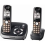 Panasonic KX-TG6532B Expandable Digital Cordless Phone with Answering System 2 handsets