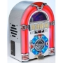 MP3 CD Rock Mini LED Jukebox - COLOUR CHANGING LED LIGHTS - RADIO / CD / MP3 Playback: USB 2.0 / SD Memory card + Aux: iPod / iPhone / MP3 player etc