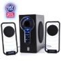 GOgroove BassPULSE Hi-Fidelity 2.1 Speaker Sound System with Subwoofer for PC Mac MP3 iPod Tablets and Home-Theater