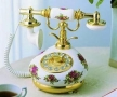 Golden Eagle 9007 Porcelain Phone RED&WHITE