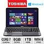 Toshiba Satellite L855-S5189 Notebook PC - 3rd generation Intel Core i7-3630QM 2.4GHz, 8GB DDR3, 1TB HDD, DVDRW, 15.6 Display, Windows 8 Pro 64-bit, S