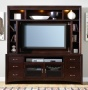 Entertainment Center in Merlot Finish