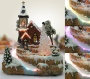 Christmas Snow Village Fiber Optic Church Chapel Winter Collectible