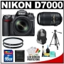 Nikon D7000 16.2 MP Digital SLR Camera & 18-105mm VR DX AF-S Zoom Lens with 55-300mm VR Lens + 16GB Card + Filters + Backpack Case + Tripod + Acce