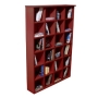 PIGEON HOLE - DVD Blu-ray CD Media Storage Shelves - Mahogany