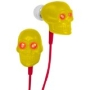 iHip IP-SKULL-Y Eyes Skull Earphones with LED LIGHT (Yellow with Red)