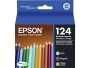 Epson T124520 124 Moderate-Capacity Color Multi-Pack Ink Cartridges