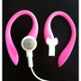 Pink EARBUDi Clips on and off Your original Apple iPod or iPhone Earbuds - and Turns Them Into Running Headphones. Soft Over-The-Ear Design with Earbu