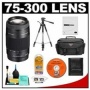 Sony Alpha 75-300mm f/4.5-5.6 Zoom Lens with Case + Tripod + Accessory Kit