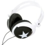 iHip IP-VOGUE-BK Star Vogue Style Stereo Headphones (Black with White)