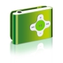 2GB GREEN MP3 USB CROSS STYLE SHUFFLE CLIPZ MP3 Player