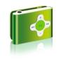 2GB GREEN MP3 USB CROSS STYLE SHUFFLE CLIPZ MP3 Player