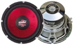 """Legacy LW10RDS 10"""" Red Electroplated Square Subwoofer (Each)"""