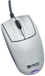 Micro Innovations Mobile - Mouse - optical - 3 button(s) - wired - USB - white - retail