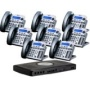 X16 Small Office Digital Phone System Bundle with 8 Phones Titanium Metallic (XB-2022-28TM)