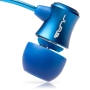 JBuds J3 Micro Atomic In-Ear Earphones with Travel Case (Electric Blue) [Amazon Frustration-Free Packaging]