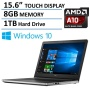 """2016 Newest Dell Inspiron 15 5000 Touchscreen High Performance Laptop, AMD Quad-Core A10-8700P Processor up to 3.2GHz, 15.6"""" HD Touch Display, 8GB Ram"""