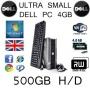 DELL PC CORE 2 DUO 4GB 500GB WIFI WIN7 DVDRW ULTRA SMALL ECO QUIET (P5-1)