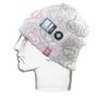 i360 Music Infused AWARE Beanie For 1G, 2G, 4G, 5G, iPod Nano (White, Pink/Grey Pattern)