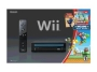 Nintendo Black Wii Console w/New Super Mario Bros Wii and Music CD