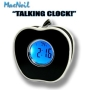 "MacNeil MCN400 White Apple ""Talking"" Alarm Clock, Batteries Included!"