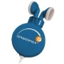Grandmax R-AUDIO-4 Retractable Stereo Earphone, Blue