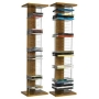 Walnut Wood Media CD & DVD Storage Unit Stand Towers