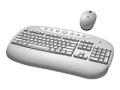Logitech Cordless Desktop Internet Pro Keyboard - Mouse - White