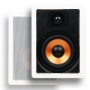 "Micca M-6S 6.5 Inch 2-Way In-Wall Speakers with Pivoting 1"" Silk Dome Tweeter (Each, White)"