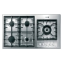 "Fagor 3FIA-95GLSTX Stainless Steel 36"" Gas Cooktop with 5 Sealed Burners and Au"