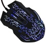 LuguLake USB 2.0 Wired 6D Optical Mouse Mice, Adjustable DPI Up To 2400 For Laptop PC(Black)