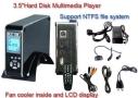 "TeckNet OT105 3.5"" Hard Disk Drive Media Player / Data Storage With LCD Displayer - Black"