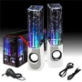 GrandGadgets® Dancing Display Water Splash Speakers With MP3 Connection, Aux Connection Compatible with MP3 Players/iPods/iPads/iPhones/Smartphones/La