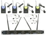 UHF 4 Channel UHF Lapel / Lavalier & Headset Wireless Microphone System UHF